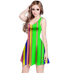 Hot Stripes Rainbow Reversible Sleeveless Dresses