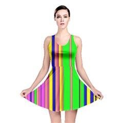 Hot Stripes Rainbow Reversible Skater Dresses