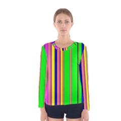 Hot Stripes Rainbow Women s Long Sleeve T-shirts