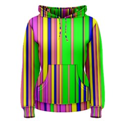 Hot Stripes Rainbow Women s Pullover Hoodies