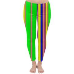 Hot Stripes Rainbow Winter Leggings