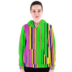 Hot Stripes Rainbow Women s Zipper Hoodies