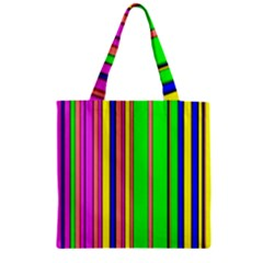Hot Stripes Rainbow Zipper Grocery Tote Bags