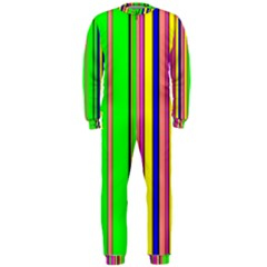 Hot Stripes Rainbow OnePiece Jumpsuit (Men)