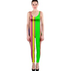 Hot Stripes Rainbow OnePiece Catsuits