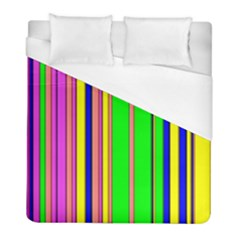 Hot Stripes Rainbow Duvet Cover Single Side (twin Size)