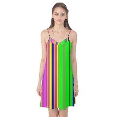 Hot Stripes Rainbow Camis Nightgown