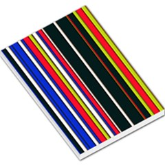 Hot Stripes Red Blue Large Memo Pads