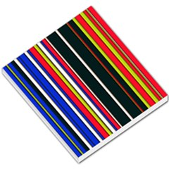 Hot Stripes Red Blue Small Memo Pads