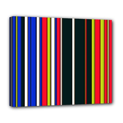 Hot Stripes Red Blue Deluxe Canvas 24  X 20