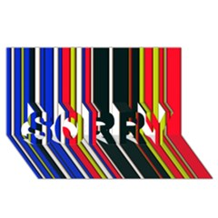 Hot Stripes Red Blue Sorry 3d Greeting Card (8x4)
