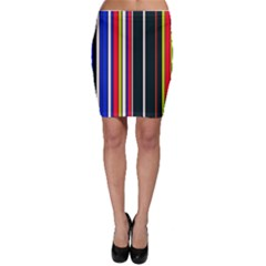 Hot Stripes Red Blue Bodycon Skirts