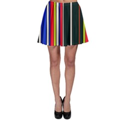 Hot Stripes Red Blue Skater Skirts