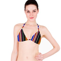 Hot Stripes Red Blue Bikini Tops