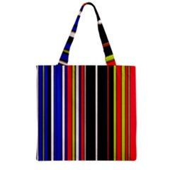 Hot Stripes Red Blue Grocery Tote Bags