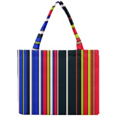 Hot Stripes Red Blue Tiny Tote Bags