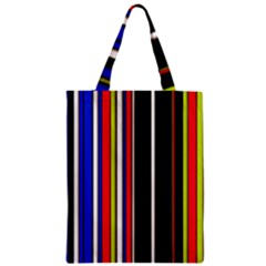 Hot Stripes Red Blue Classic Tote Bags