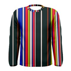 Hot Stripes Red Blue Men s Long Sleeve T-shirts