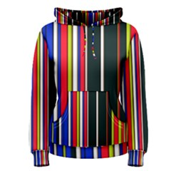 Hot Stripes Red Blue Women s Pullover Hoodies
