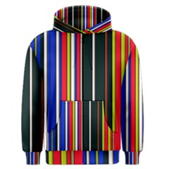 Hot Stripes Red Blue Men s Zipper Hoodies