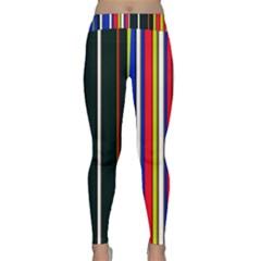 Hot Stripes Red Blue Yoga Leggings