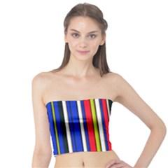 Hot Stripes Red Blue Women s Tube Tops