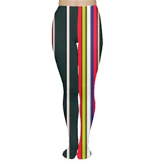 Hot Stripes Red Blue Women s Tights