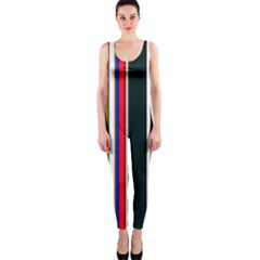 Hot Stripes Red Blue OnePiece Catsuits
