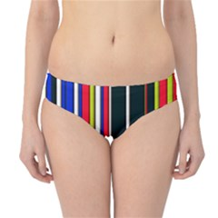 Hot Stripes Red Blue Hipster Bikini Bottoms