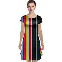 Hot Stripes Red Blue Cap Sleeve Nightdresses