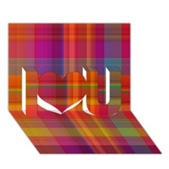 Plaid, Hot I Love You 3d Greeting Card (7x5)