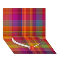 Plaid, Hot Heart Bottom 3D Greeting Card (7x5)