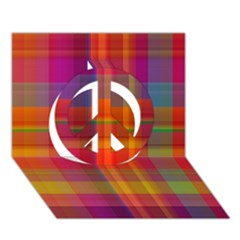 Plaid, Hot Peace Sign 3D Greeting Card (7x5)