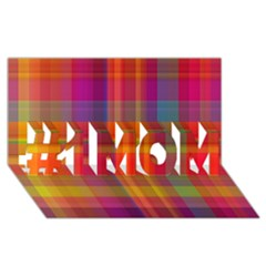 Plaid, Hot #1 Mom 3d Greeting Cards (8x4)