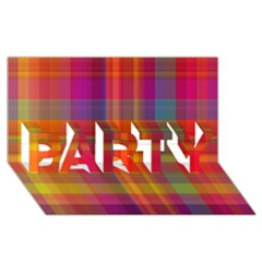 Plaid, Hot PARTY 3D Greeting Card (8x4)