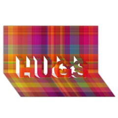 Plaid, Hot HUGS 3D Greeting Card (8x4)