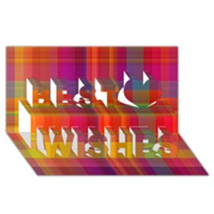 Plaid, Hot Best Wish 3d Greeting Card (8x4)