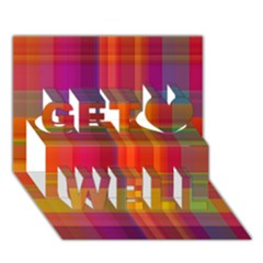 Plaid, Hot Get Well 3d Greeting Card (7x5)