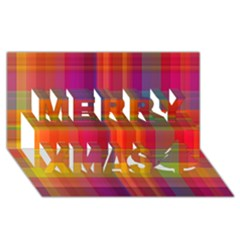 Plaid, Hot Merry Xmas 3d Greeting Card (8x4)