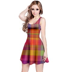 Plaid, Hot Reversible Sleeveless Dresses