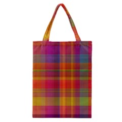 Plaid, Hot Classic Tote Bags