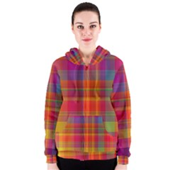 Plaid, Hot Women s Zipper Hoodies