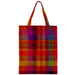 Plaid, Hot Zipper Classic Tote Bags