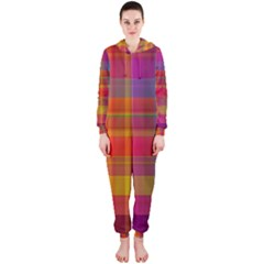 Plaid, Hot Hooded Jumpsuit (Ladies)