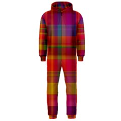 Plaid, Hot Hooded Jumpsuit (Men)