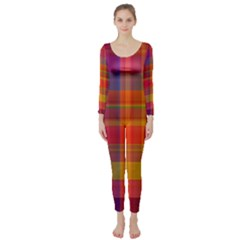 Plaid, Hot Long Sleeve Catsuit