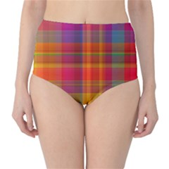 Plaid, Hot High Waist Bikini Bottoms
