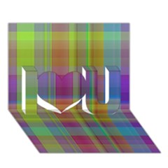 Plaid, Cool I Love You 3D Greeting Card (7x5)