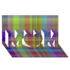 Plaid, Cool Mom 3d Greeting Card (8x4)