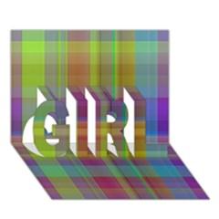 Plaid, Cool Girl 3d Greeting Card (7x5)